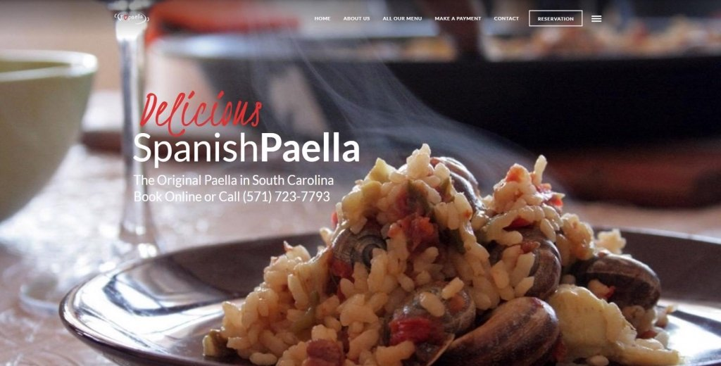 Website de I Love Paella USA