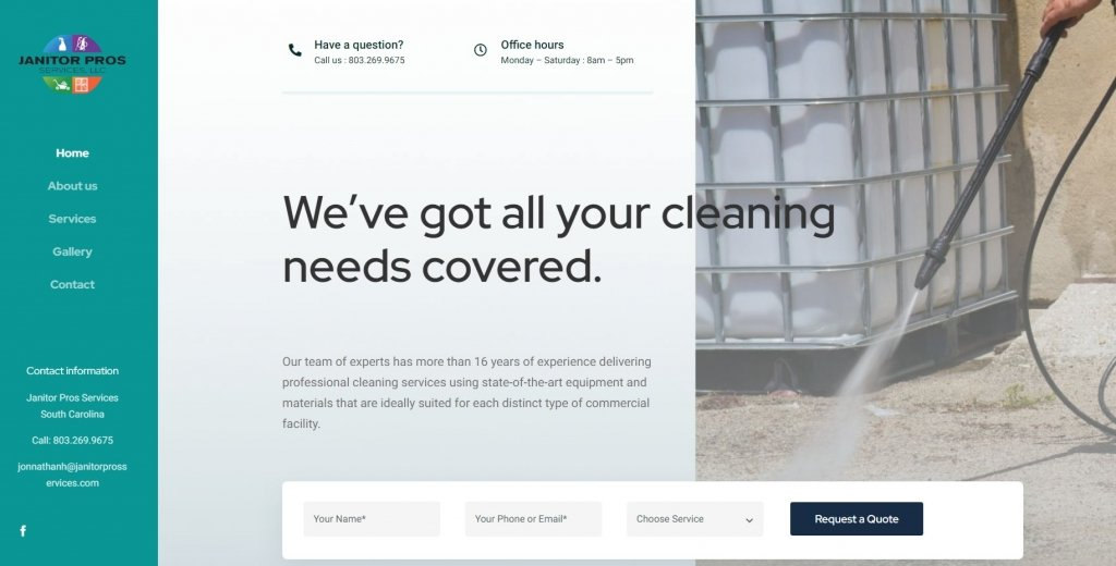 Website de Janitor Pros Services